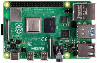 Raspberry Pi 4 Computer Model B; BCM2711 SoC; 2GB DDR4 RAM; USB 3.0; PoE Enabled