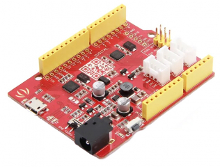 ATmega328P MCU; Arduino UNO bootloader; Arduino UNO-R3 Shield Compatible; 14 Digital I/O (6 PWM outputs); 6 Analog Inputs; ISP Header
