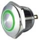 16mm round momentary vandal-resistant, 12V GREEN