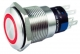 19mm round momentary vandal-resistant, 12V RED