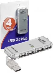 1xUSB A plug to 4xUSB A jack, data rate 480Mbps, supported by Windows andMacOS
