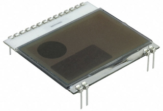 LCD Graphic, 102x64, FSTN, Positive, White, 39x38.1mm