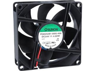 24VDC, 80x80x25mm, 4.8W, 101.94m3/h, 4800RPM