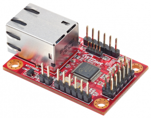 Compact Serial to Ethernet Module based on W7500P; 1 x RS232 / RJ45