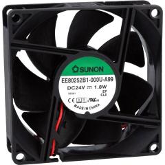 24VDC, 80x80x25mm, 1.8W, 69.66m3/h, 3200RPM