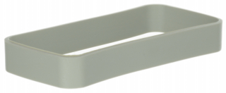 TPU-Protection light grey ring  for the HH-enclosure WK-3. Size: 90x46x13mm, Light grey RAL 9018