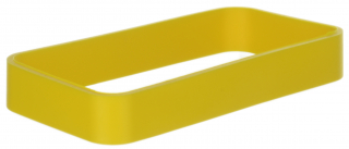 TPU-Protection yellow ring  for the HH-enclosure WK-3. Size: 90x46x13mm, Yellow RAL 1018