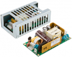 AC/DC converter, open frame, 80W (100W forced air), In: 80~264VAC, Out: 15V, 6.7A, Eff.: 90%, medical