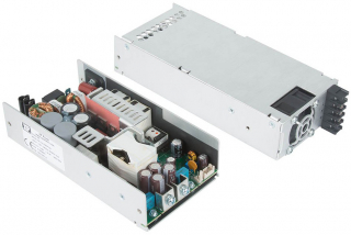 AC/DC converter, end fan cover, 500W, In: 80~264VAC, Out: 12V, 41.7A, Eff.: 93%, medical