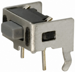 Tact Switch, Side Actuated, Operating Force 200grams, 6.0x3.5x3.85mm, SPST-NO, 50mA@12VDC, TH, Obsolete