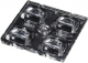 Lens Array Strada, Asymmetric Beam, Screw/Pin Fastening, Material-PMMA 50x50x7.1mm