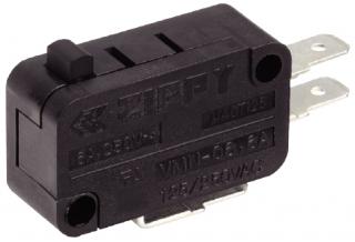 Micro sw roller 3p SPDT Mom. 10A/250V 27.8x15.9x10.3mm
