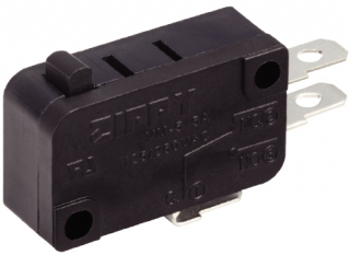 Micro sw lever 3p SPDT Mom. 5A/250V 27.8x15.9x10.3mm