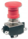 PUSH-PULL Switch, Industrial, DPDT Latching, OFF-ON, 2A/250VAC, Panel, Actuator(Plunger) RED 24mm dia.