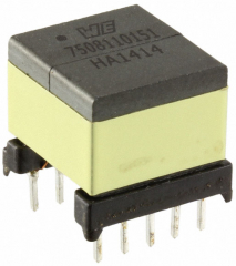 SMPS Transformer for AC/DC Flyback Converters, Vin 120-375VAC, Turns Ratio 1.57/4.91/15.42:1, Lin 1.5mH, Visol 4kVAC