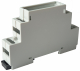 DIN-rail enclosure, ser.175, complete, possibility for both base and top PCB and up to 12 terminals, NOT FOR SIDE PCB!!