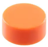 Cap Extension for Tactile Switch,  series Schurter 1241.16xx.xxxx, Orange, Overall height 9.25mm