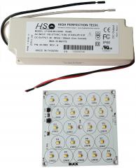 Eднослойни алумиеви ПП - 88х88мм; светодиод XBD; 3750K с включен драйвер