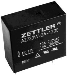 12A; Coil 12V 180 Ohms; DPST; 1.5 mm contact gap; Sealed; 2500V RMS between open contacts