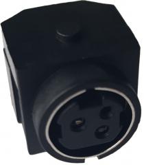 Mini DIN Jack 3 Poles, TH, UL-94V0