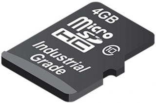 Industrial Secure Digital Card, 4GB, 26 MB/s Read, 12 MB/s Write, Class 10