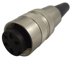 Circular Audio/Video connector with joint M16, 5 Contacts Jack, 5A, 300V, Straight, Solder Terminals, Cable Mount