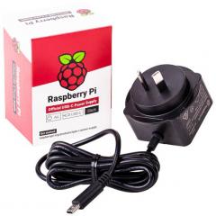 Wallmount Power Adapter for Raspberry Pi, Output USB C 15.3W 5.1VDC/3.0A, Input 100-240VAC, 45x45x36mm, Region AUSTRALIA