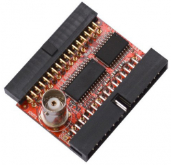 iCE40-DAC is module with fast DAC with 100Mhz clock