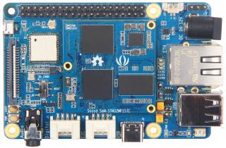 SBC based on 32-bit Dual-core Arm-Cortex-A7 M4 STM32MP157C SoM; 512MB DDR3 RAM; 4GB EMMC; WiFi 802.11 b/g/n 2.4GHz; BT 4.1