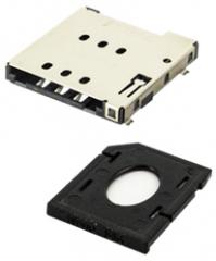 Nano SIM Card Socket 6pins+tray