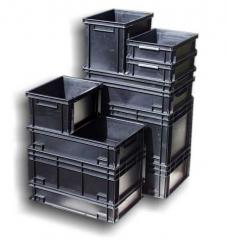 Контейнер от проводим полипропилен, модел NEWBOX 20, външни размери 400x300x220мм, обем 20л.