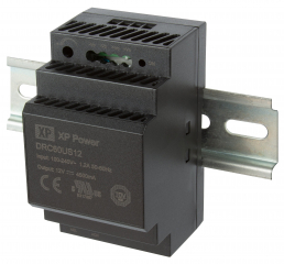 DIN Rail; In. 85-264VAC/120-370VDC; Out. 48V(adj. 43.2-55.2)/1.25A; -30°C to 70°C Eff. 91%; 58.0x52.0x92.7mm