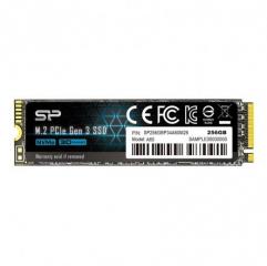 SILICON POWER A60 256GB SSD, M.2 2280, PCIe Gen3x4, SLC Cache, Read/Write: 2200/1600 Mb/s