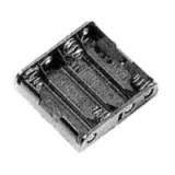 """Battery holder for 4 """"AA"""", wire leads"""