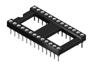 """40 pin 0.6"""" 15.24 mm"""