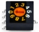 Rotary Code Switch, 16 positions (HEXadecimal), TH, Flat type