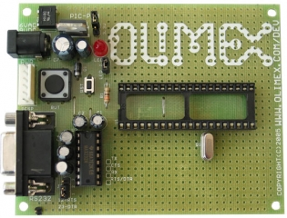 Development prototype board for 40 pin PIC microcontrollers