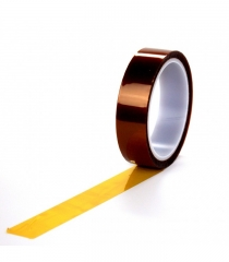 Високотемп. самозалеп. каптонова лента 12мм/33м, предпазва от прегряване и замърсяване при произв. процес