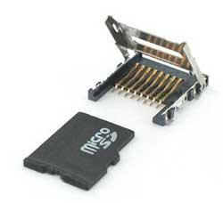Micro SD съединител; Hinge; SMD
