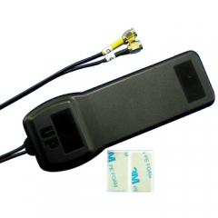 GPS/GSM antenna, 2xSMA, 3m RG174 cable
