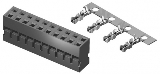 Wire to Board Socket, body height 7.2mm, 2x3, straight wire, P2.0mm - base
