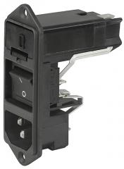 модул захр.букса 2р.+ гнездо за 2предп.(продава се отделно)+ ключ 10A/250VAC; IEC C14