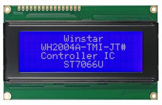 20x4 LCD STN Blue Neg. 98x60x15.5mm white B/L LAT+CYR