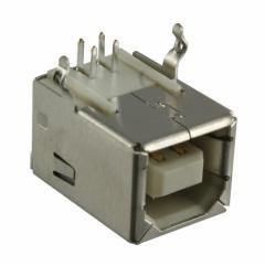 USB socket, B-type, horizontal, for PCB