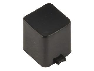 капачка квадратна 7x7x8mm черна