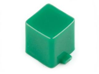 капачка квадратна 7x7x8mm зелена