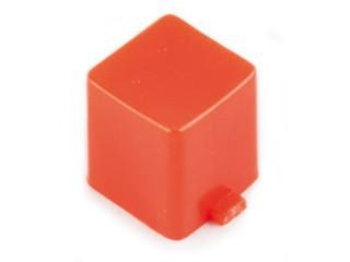 капачка квадратна 7x7x8mm червена