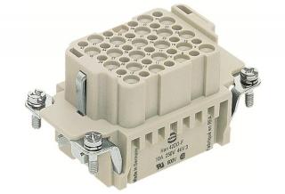 HAN 42DD f.,250V,10A,crimp,base