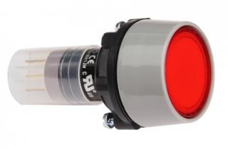 Socket, alt. 1NO+1NC 28V 40mA RED 29mm round