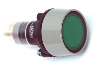 Socket, mom. 1NO+1NC 28V 40mA GREEN 29mm round